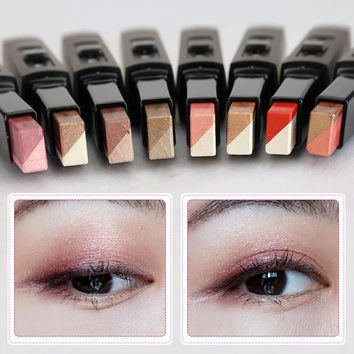 UBUB Eyes Makeup Double Color Velvet Shimmer Eyeshadow Stick Earth Color Eye Shadow Cream Pen Brand Makeup Palette Cosmetics
