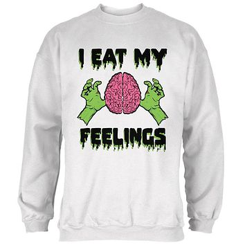 Halloween I Eat My Feelings Zombie Brain Mens Sweatshirt