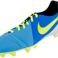 Nike CTR360 Maestri III FG Soccer Cleats - Current Blue with Volt - SoccerPro.com