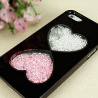 Cute Hearts Designer Dancing Diamond Case for iPhone 5