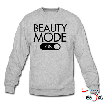 Beauty Mode (on) crewneck sweatshirt