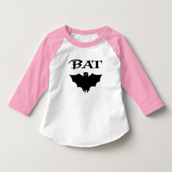 Bat Black And White Typography Halloween Tshirts