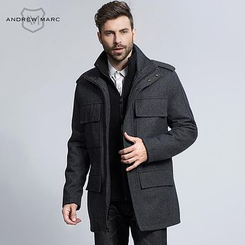 Jackets & Coats Casual Men Overcoat Men's Clothing 2018 New Winter Wool Coat Men Leisure Long Sections Woolen Coats Mens Pure Color Casual Fashion Jackets