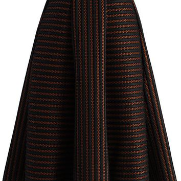 Versatile Stripes A-line Skirt