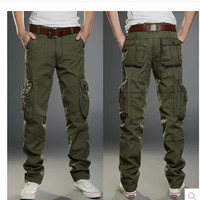 Trousers Summer Clothing of Cotton Men's Classic Joggers Pants Black Khaki Pants