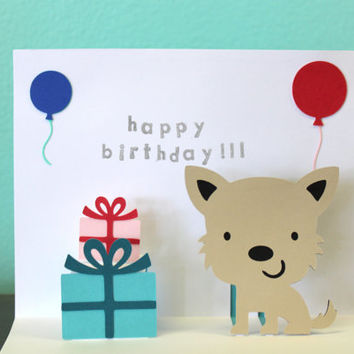 Pop Up Card - Dog - Birthday Card