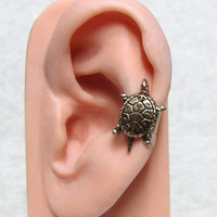Sea Turtle Nautical Ear Cuff