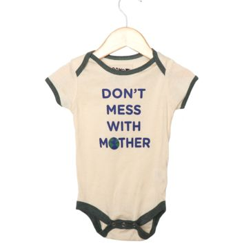 BABY DON'T MESS WITH MOTHER Onesuit