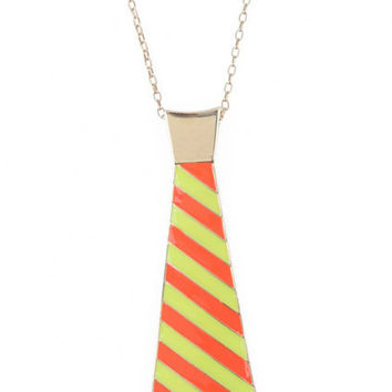 Colorful Tie Design Necklace [AKD0332] - $11.58 :