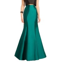 Vintage 2017 Long Green Mermaid Skirts For Women High End Custom Made Female Floor Length Skirt Vintage Maxi Skirt New