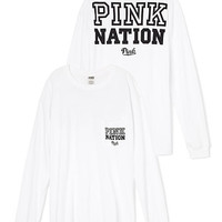 PINK Nation Long Sleeve Campus Tee - PINK - Victoria's Secret