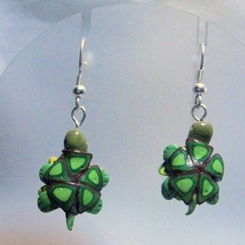 Turtle Earrings from Polymer Clay Realistic