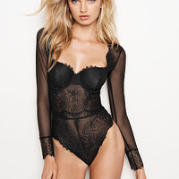 Chantilly Lace Long-sleeve Teddy - Dream Angels - Victoria's Secret