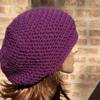 Slouchy Hat - Slouchy Beanie - The Eden in Mulberry - Gamers Hat - Womens Hat - Mens Hat