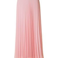 Pleated Maxi Skirt - Blush
