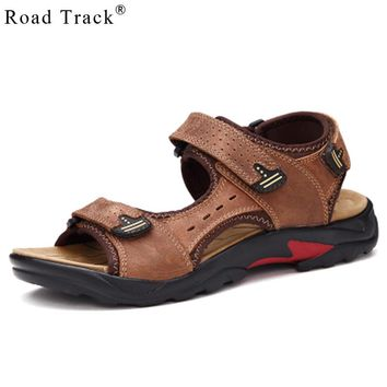 Road Track Fashion Summer Leisure Beach Men Shoes High Quality PU Leather Sandals Men's Breathable Sandals