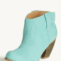 tacoma ankle boots in mint at ShopRuche.com
