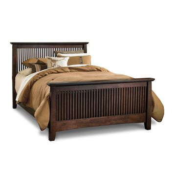 American Signature Furniture - Arts & Crafts Dark Bedroom Queen Bed