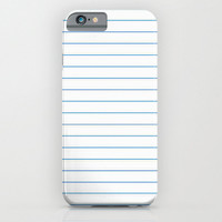 iPhone 6 Case - Notebook Paper Case - unique iPhone case, school supplies iPhone case, hipster iphone, iphone 6 case, iPhone 6 Plus Case