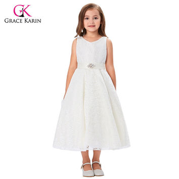 Grace Karin Flower Girl Dresses Lace New Toddler Baby Flower Girls Princess Pageant Ball Gown Kids Prom Tutu Wedding Party Dress