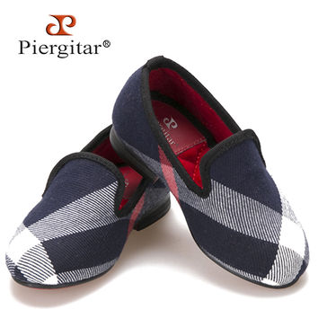 Same Men design Children Flats shoes Red cotton comfortably insole Parental Shoes Party child slipper