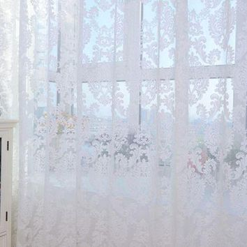 MDIGYN5 Super Deal  European style Tulle Door Window Curtain Drape Panel Sheer Scarf Valances XT