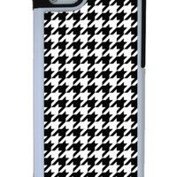 Houndstooth iPhone 5 protective 2 piece case rubber lining for Apple caseOrama