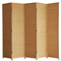 4 Panel 120CM Fabric Fiber Room Divider Screen Furniture