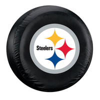 Pittsburgh Steelers NFL Spare Tire Cover (Large) (Black)