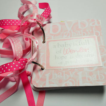 Baby Girl Mini Album, Baby Girl Scrapbook, Premade Album, Baby Girl Brag Book, Chipboard Album, Baby Girl Memory Book, Baby Girl Photo Album