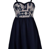 GLAMAZON TAPESTRY SKATER DRESS