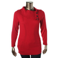 Style & Co. Womens Plus Knit Cowl Neck Tunic Sweater