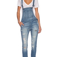 Black Orchid Skinny Overall in Blue