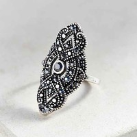 Gatsby Deco Party Ring- Silver