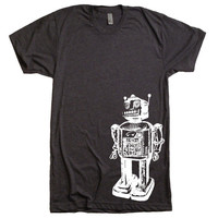 Mens Vintage Robot T Shirt - American Apparel Tshirt - XS S M L XL XXL (28 Color Options)