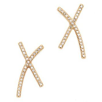 X Pave Earrings