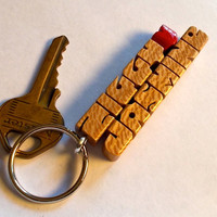 Love Keychain Names - Sycamore Wood - Handmade to Order