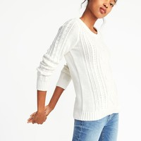 Classic Cable-Knit Sweater for Women |old-navy
