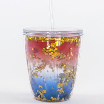 Red, White & Blue Confetti Tumbler