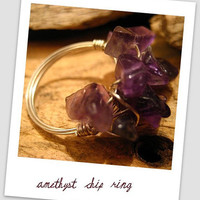 Amethyst Chip Ring design by Agapantha