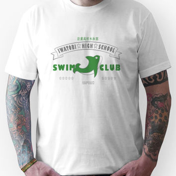 Free! Iwatobi Swim Club Shirt (Makoto, Captain) white Unisex T-Shirt