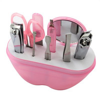 9Pcs Manicure Set Manicure Pedicure Set Nail Clippers Scissors Grooming Kit [8833420556]