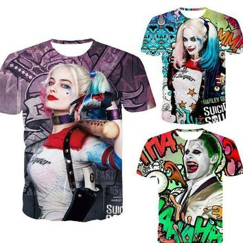 PEAPYV3 Suicide squad men 3d t shirt Harley Quinn joker deadshot male Rick Flag mens shirts Boomerang Suicide squad