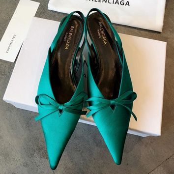 Balenciaga Women Fashion Casual Low Heeled Shoes 4