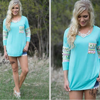 Casual Long Sleeve T Shirt With Print Pocket