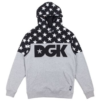 DGK Tycoon Hooded Fleece - Black Grey