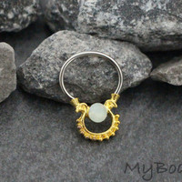 Septum Piercing 16G, Gold Septum Jewelry Silver, Daith Ring, Daith Jewelry, Rook Earring, Rook Piercing, Conch Hoop, Conch Earring