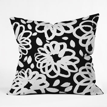 Budi Kwan Blossom Mono Throw Pillow