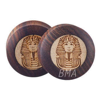 "1 & 5/16"" (34mm) Pharaoh in Chechen Wood Plugs #3726"