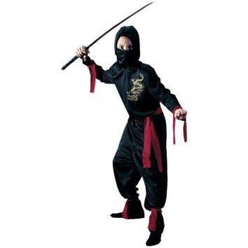Ninja Costume for Kids/Preteen/Tweens Halloween Fancy Dress in Black or White